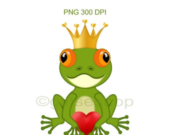 Frog Images- Frog Clipart- Frog Cartoon, Heart Clipart, Valentines Day Clipart