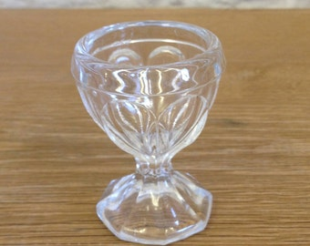 Vintage Glass Egg Cup - Possibly French - Original & Rare Kitchenalia.