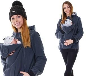 Babywearing Jacket for Mom and Baby fleece Jacket Teddy Jacket