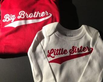 Big Brother/Little Sister Long Sleeve Set