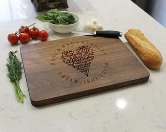 Personalized Cutting Board, Cutting Board,Engraved Cutting Board,Monogrammed CuttingBoard,Custom Wedding Gift --CB-WAL-PHIL MaryStanley