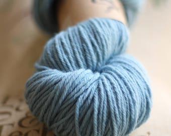 Indigo, Grayish Baby Blue, Naturally Hand Dyed Yarn, Knitting Crocheting, Wool Gift