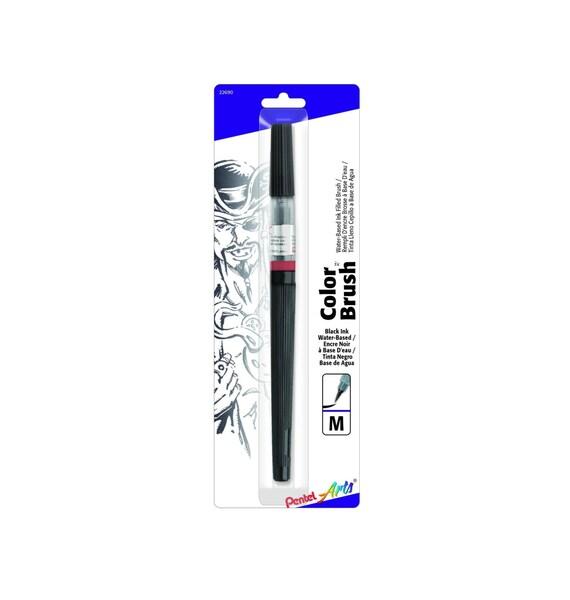 Pentel Color Brush Pen Black Calligraphy Brush