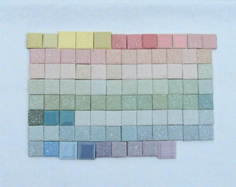 "Vintage Wall Tiles ~ set of 93 ~ 1"" squared"