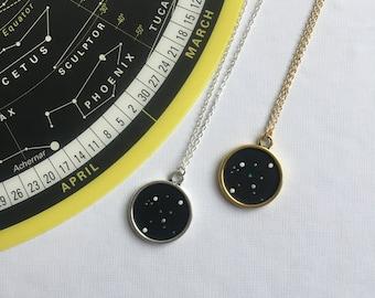 AQUARIUS NECKLACE. zodiac jewellery - aquarius constellation necklace - aquarius zodiac necklace - aquarius star sign necklace - astrology