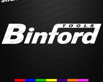 BINFORD TOOLS Car Truck Window Decal Bumper Toolbox Sticker Home Improvement 550