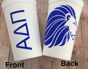 Alpha Delta Pi Sorority Cup;  Alpha Delta Pi Cup; Alpha Delta Pi Cup; Alpha Delta Pi Stadium Cup; ADPi Tumbler; ADPi Gift; ADPi Accessories