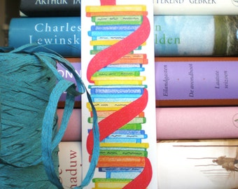 Bookmark Bookworm - Bookmark Recycled Paper.