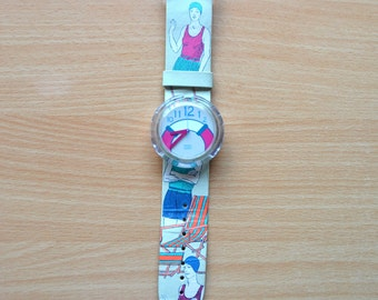 "Vintage 1992 Swatch Pop ""The Life Saver"" Swiss Watch"