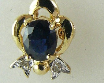 Sapphire 0.90ct Earring 5x4mm 14k Yellow Gold