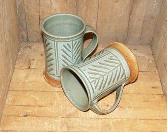 GBP Handthrown Coffee Mugs Set of Two -  1304