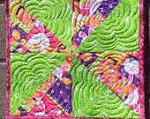 Easter Quilted Square Placemats in Sets of 4 or 6 | Easter or Spring Quilted Placemats for Kitchen or Dining
