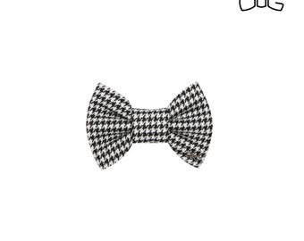 """Elegant black & white dog bow tie - 30% of sales donated to dog shelters """"dog bow tie"""" symbol for animal support"""