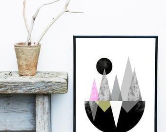 Modern Wall Art, Boat Print, Abstract Art, Scandinavian Modern, Art Print, Giclee print, Wall Art, Poster, Home Decor, Wall Decor