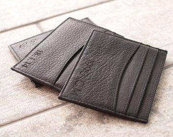 Personalised Leather Card Holder, Personalised Leather Card Case, Bespoke Card Holder, Engraved Leather Card Holder, Handmade Card Case