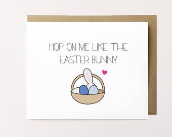 Funny Easter card, Naughty Easter card for boyfriend, Easter card, Funny Easter bunny card, Cheeky Easter card, Husband Easter card