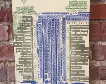 Waterfall Letterpress Print