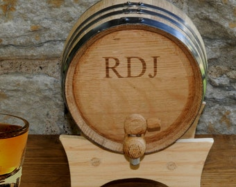 Personalized Oak Whiskey Barrel - 2 Liter - Distillery - Spirits - Valentines Gift - Groomsmen Gifts - Gifts for Him