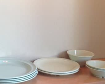 Melmac GREEN. Mint, mint color dishes,
