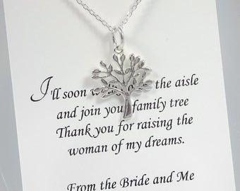 Mother of the Groom Gift, Mother In Law Gift, Gift for Mother in Law, Tree of Life Necklace, Sterling Silver Tree of Life Necklace