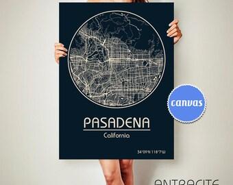 PASADENA California Map Pasadena Poster City Map Pasadena California Art Print Pasadena California poster Pasadena California map