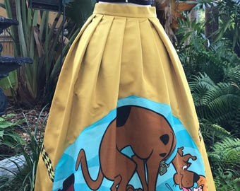 Scooby Doo Skirt Shaggy Prom Wedding Dog Skirt Alternative Gown Stage Wear Vintage 1998 Scooby Doo Fabric Size Waist 29 inches