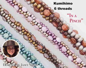 "Kumihimo pattern tutorial 6 threads  ""In a Pinch"" Kumihimo Style"