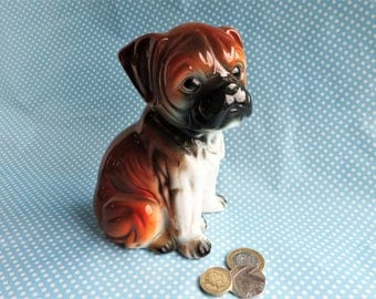 Ceramic boxer puppy money box