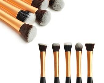 5 piece professional Gold brush set