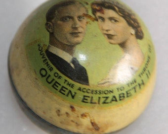 Royal souvenir accession to the thrown Queen Elizabeth vintage souvenir Queen Elizabeth 11 the Queen of England vintage item