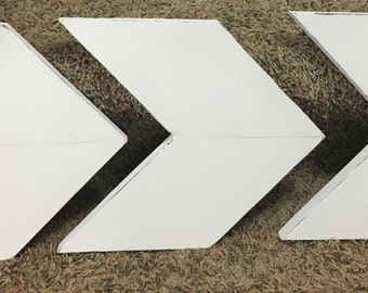 Rustic Chevron Distressed Wood Arrows