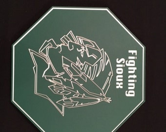 Fighting Sioux Octagon Plaque