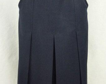 RARE! -Celine skirt vintage - skirt 60's - skirt in Navy blue wool - wool vintage skirt - size 36 (size S)-
