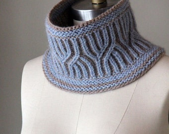 Lavington Cowl, knitting pattern, knit cowl, pattern, knit pattern, cowl pattern, brioche cowl, instant download pdf