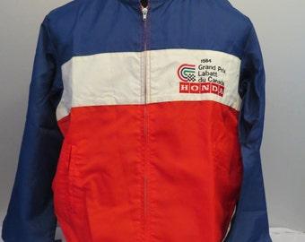 Vintage Team Honda Wind Breaker Jacket - 1984 Molson Grand Prix - Men's Large