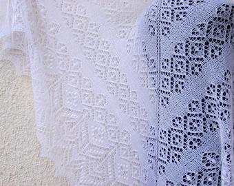 Knitted shawl, shawls and wraps, winter shawl, woman scarf, Knitted Shawl, lace Shawl, white Shawl, knit shawl, Wedding shawl womens gift