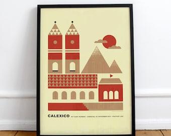 Calexico Screenprint • Design by Simon Marchner || Gig Poster Artprint Silkscreen Limited Edition Siebdruck Print Gigposter
