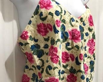 Victoria Secret 2 Pieces Lingerie Vintage Flowered Teddie Lingerie Size M Bridal Shower Gift