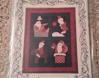 Simply Santa  by Nancy Halvorsen - Art to Heart - Santa Wall Quilt - Uncut Craft Pattern
