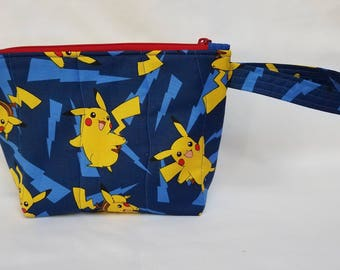 Pokemon Quilted Wristlet