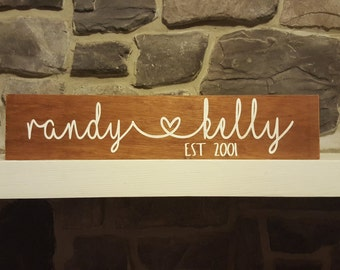Custom Wood Sign - Wedding Gift - Bridal Shower Gift - Gift For Her - Valentine's Day Gift - Valentine's Day Decor - Hand Painted Wood Sign