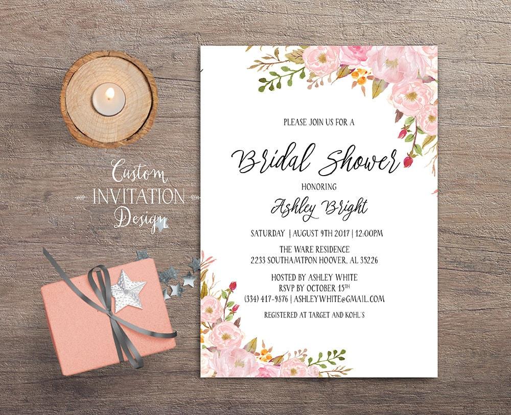 Bridal shower invitation bridal shower invitation rustic for Bridal shower email invitations