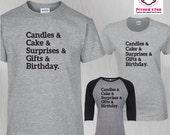 Birthday Shirt List Desig...