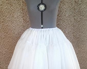 Chiffon Bell-Shaped 2-Tiered Lolita Petticoat