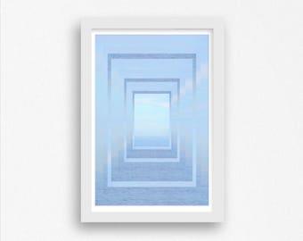Ocean Art, Nautical Art, Water Photography, Nautical Print, Water Art, Wall Decor, Fine Art Photography, Abstract Art, Geometric Art Poster
