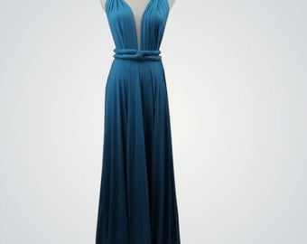 Teal blue Bridesmaid Dress infinity dress bridesmaid convertible dress wrap dress infinity dress short infinity dress long