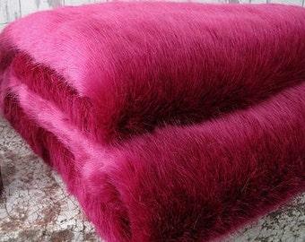 Fushia Bunny Shag Faux Fur Fabric