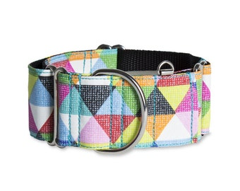 Dog collar PRISMA OUTLET, Martingale or metal buckle system