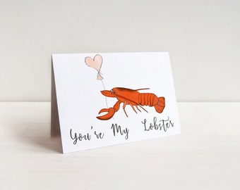You're My Lobster Funny Love Card - Funny Anniversary Card Inspired by Friends TV Show For Your Boyfriend, Girlfriend, Husband or Wife