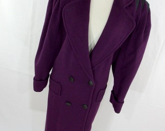 Purple trench coat | Etsy